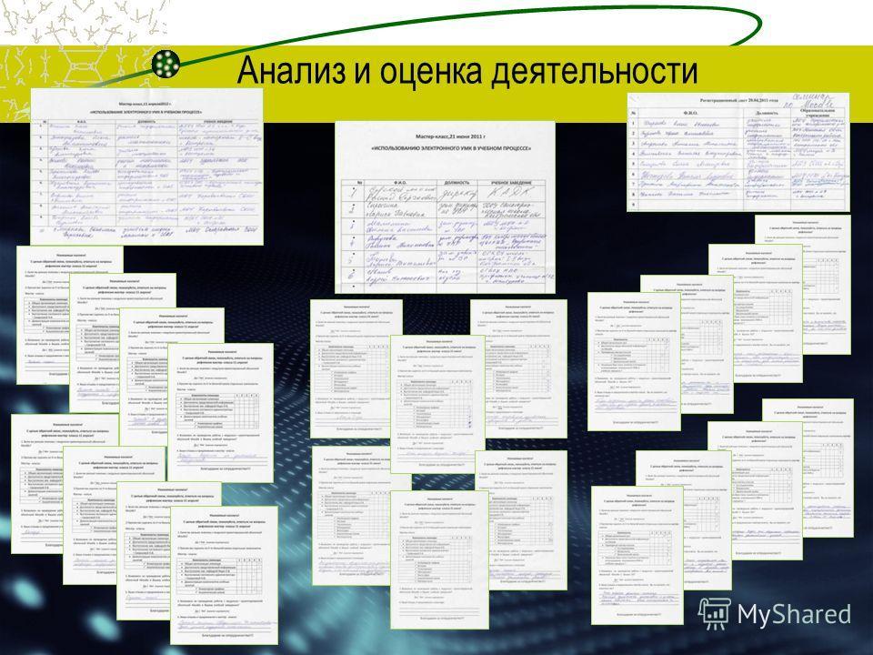 Анализ и оценка деятельности