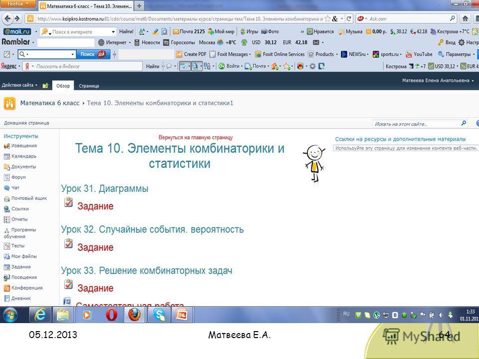05.12.2013Матвеева Е.А.64