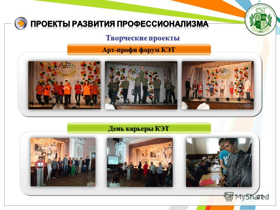Арт-профи форум КЭТ День карьеры КЭТ Творческиепроекты Творческие проекты 27