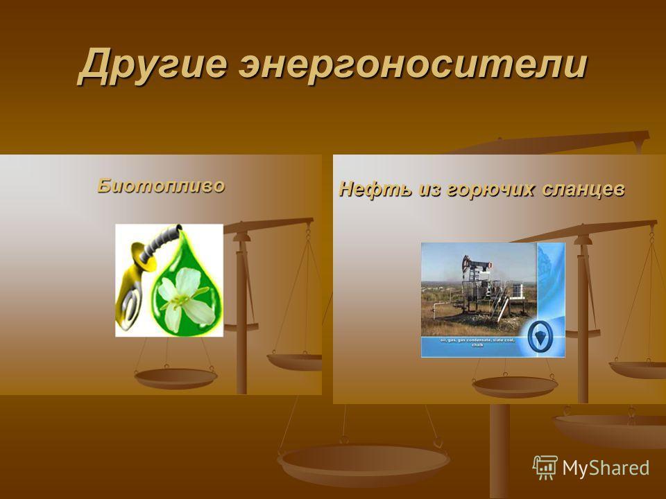 Другие энергоносители