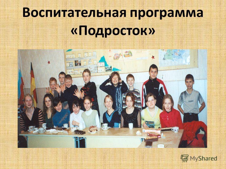 Воспитательная программа «Подросток»