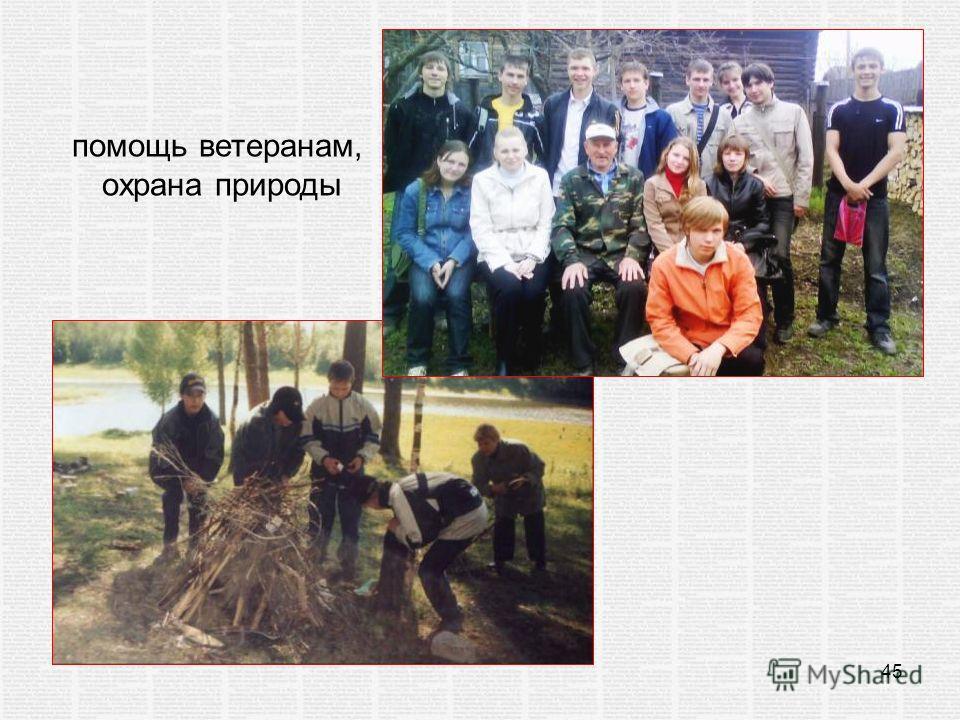 45 помощь ветеранам, охрана природы