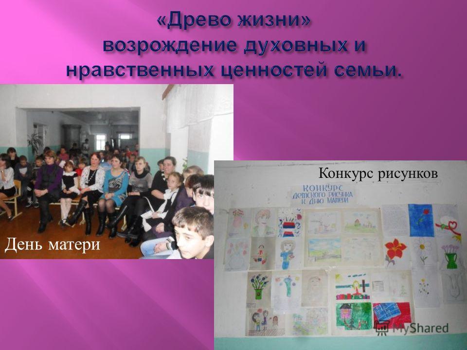 День матери Конкурс рисунков