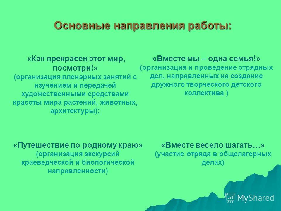 Презентация на тему Подпроект Пленэр Отчёт по летней  3 Основные направления