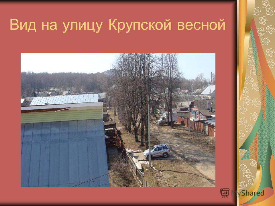 Вид на улицу Крупской весной