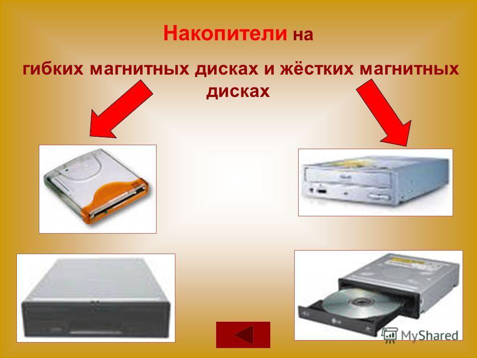 Накопители на гибких магнитных дисках и жёстких магнитных дисках