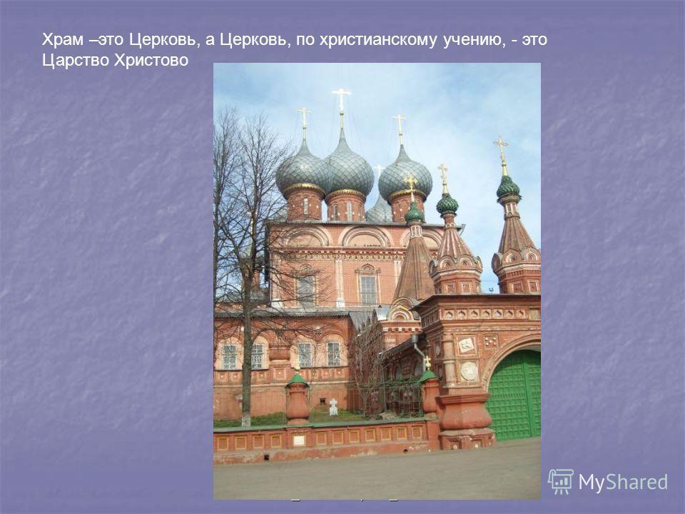 @_МОУ Барановская СОШ_Ф.С. Захарова_2010 Храм –это Церковь, а Церковь, по христианскому учению, - это Царство Христово