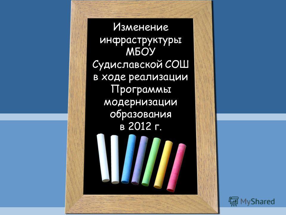 Изменение инфраструктуры МБОУ Судиславской СОШ в ходе реализации Программы модернизации образования в 2012 г.