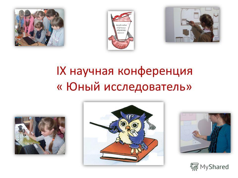 IX научная конференция « Юный исследователь»
