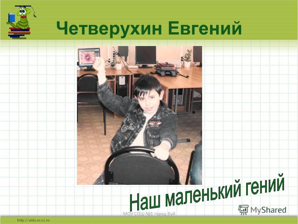 МОУ СОШ 1 город Буй Четверухин Евгений