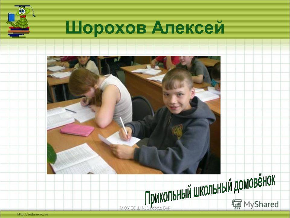 МОУ СОШ 1 город Буй Шорохов Алексей