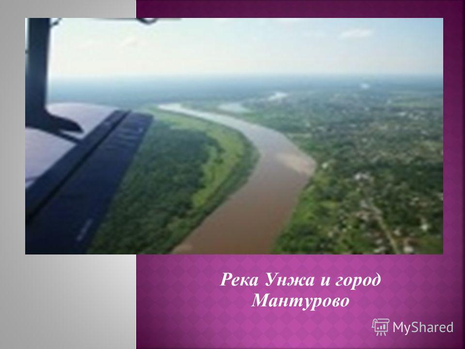 Река Унжа и город Мантурово