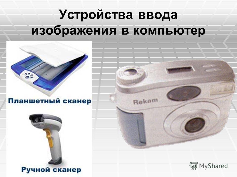 Устройства ввода изображения в компьютер