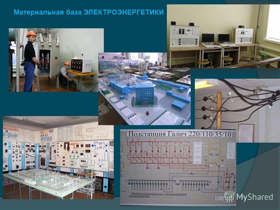 Материальная база ЭЛЕКТРОЭНЕРГЕТИКИ