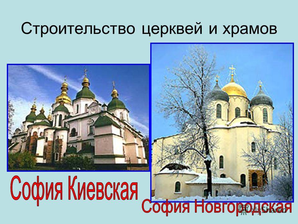 Строительство церквей и храмов