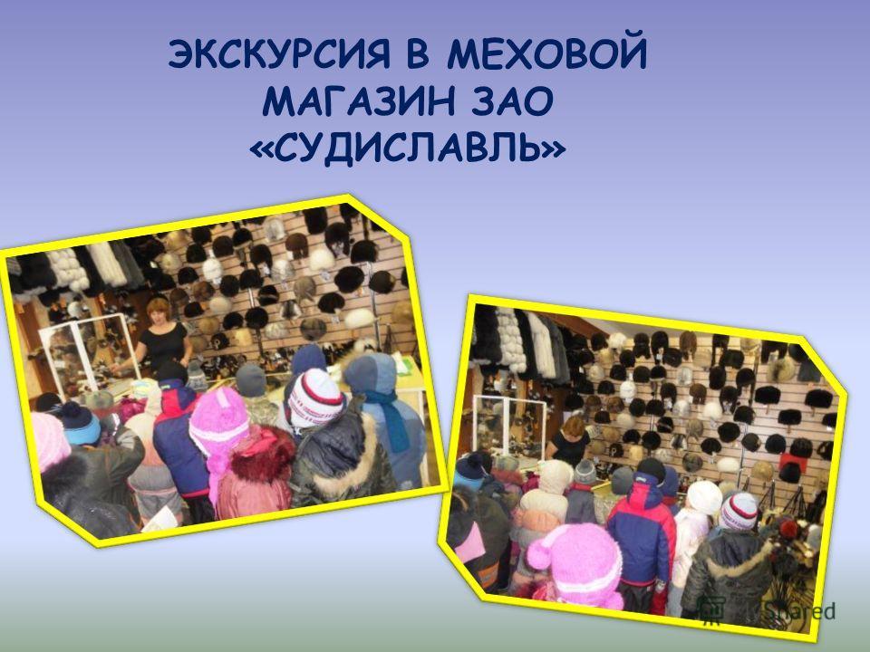 ЭКСКУРСИЯ В МЕХОВОЙ МАГАЗИН ЗАО «СУДИСЛАВЛЬ»