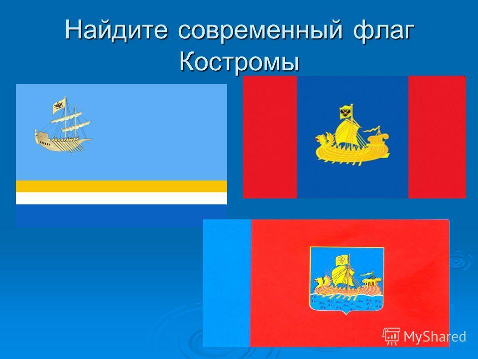 Найдите современный флаг Костромы