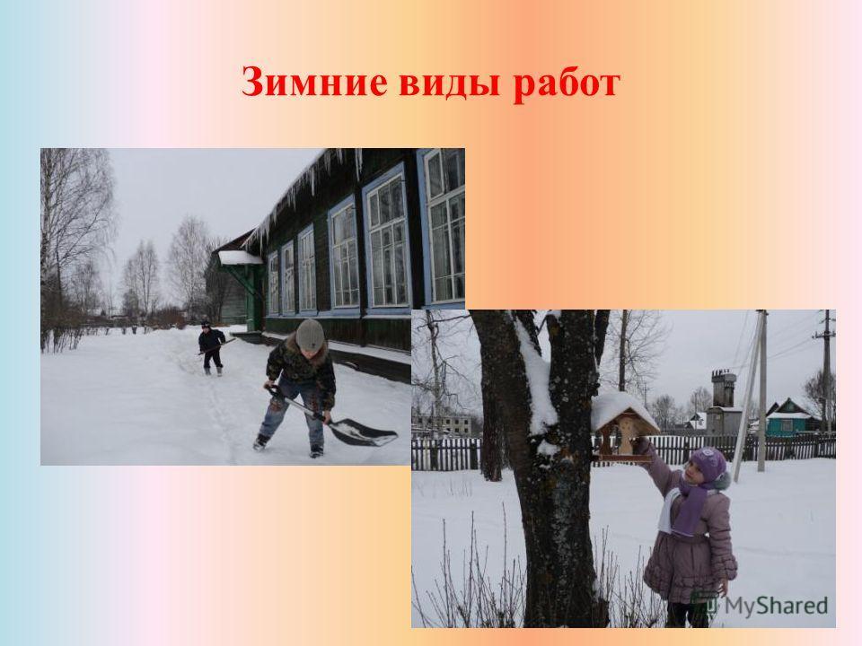 Зимние виды работ