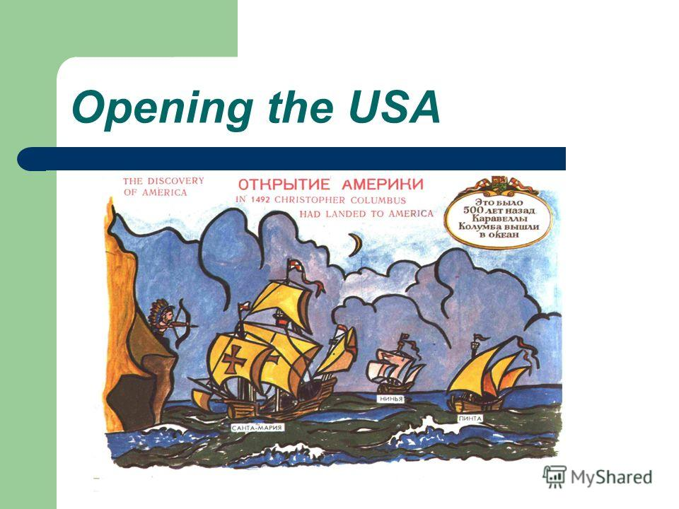 Opening the USA