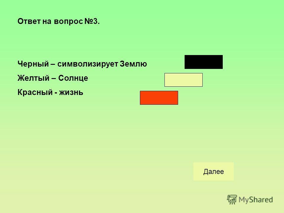Вопрос 3: Что символизирует в народном искусстве красный, желтый, черный цвет? верноНеверноНачало
