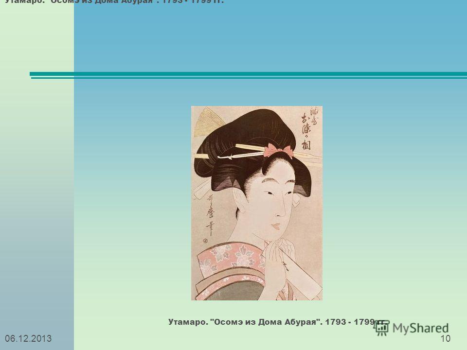 1006.12.2013 Утамаро. Осомэ из Дома Абурая. 1793 - 1799 гг.