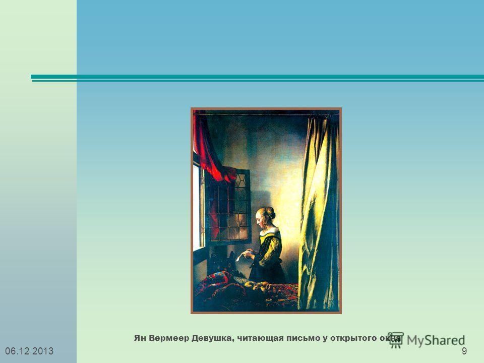 906.12.2013 Ян Вермеер Девушка, читающая письмо у открытого окна