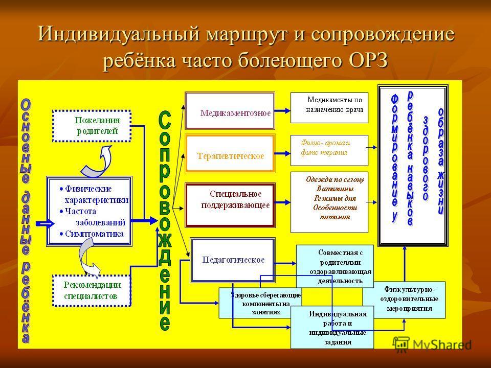 Индивидуальный маршрут и сопровождение ребёнка часто болеющего ОРЗ