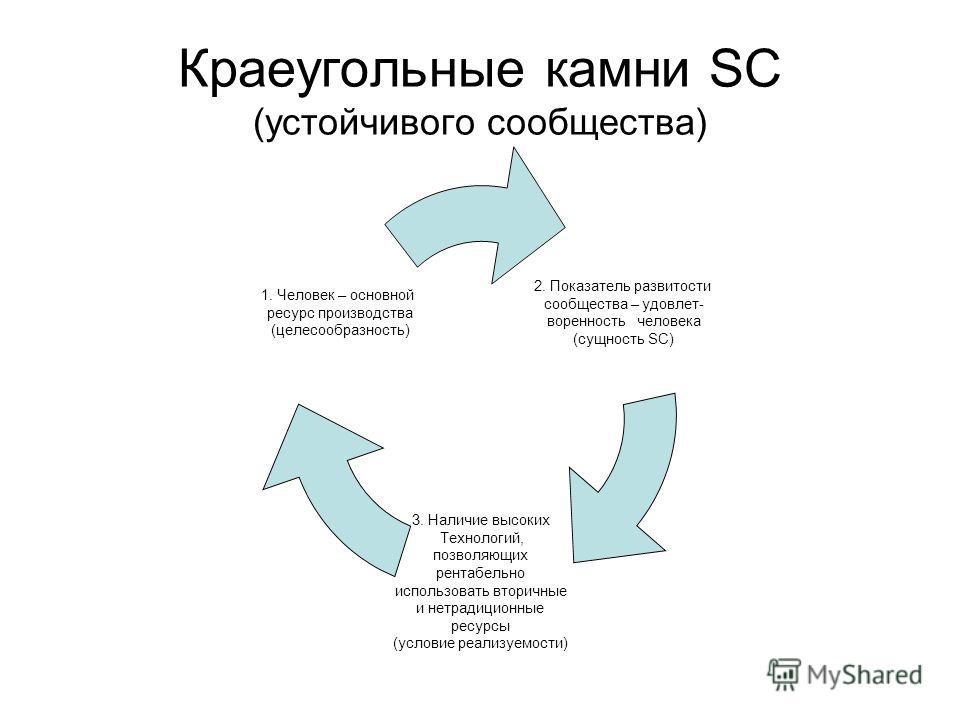 Краеугольные камни SC (устойчивого сообщества)