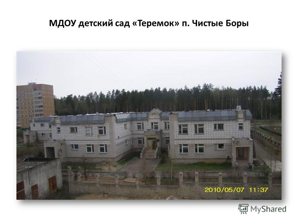 МДОУ детский сад «Теремок» п. Чистые Боры