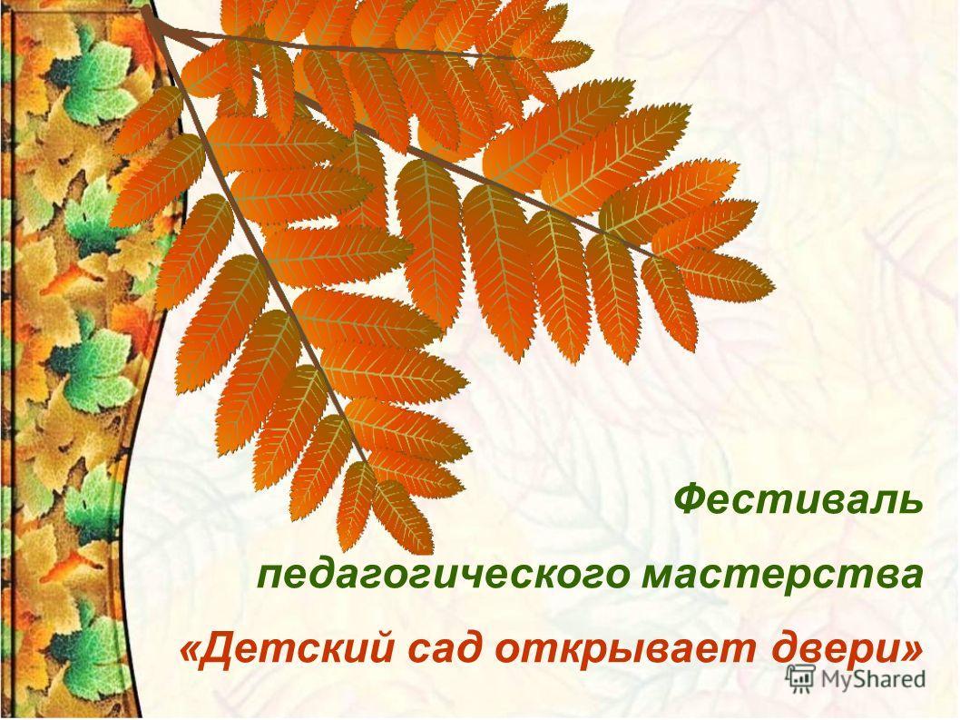 Фестиваль педагогического мастерства «Детский сад открывает двери»