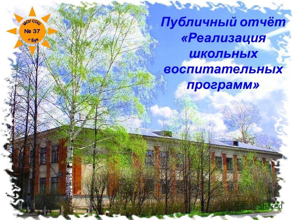 Публичный отчёт «Реализация школьных воспитательных программ»