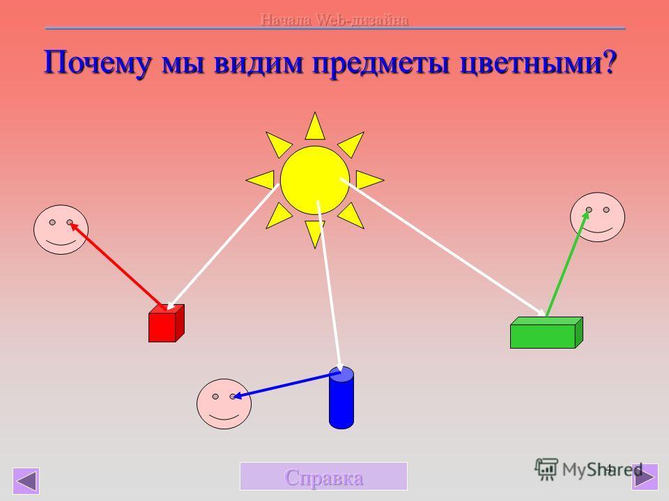 4 Почему мы видим предметы цветными?
