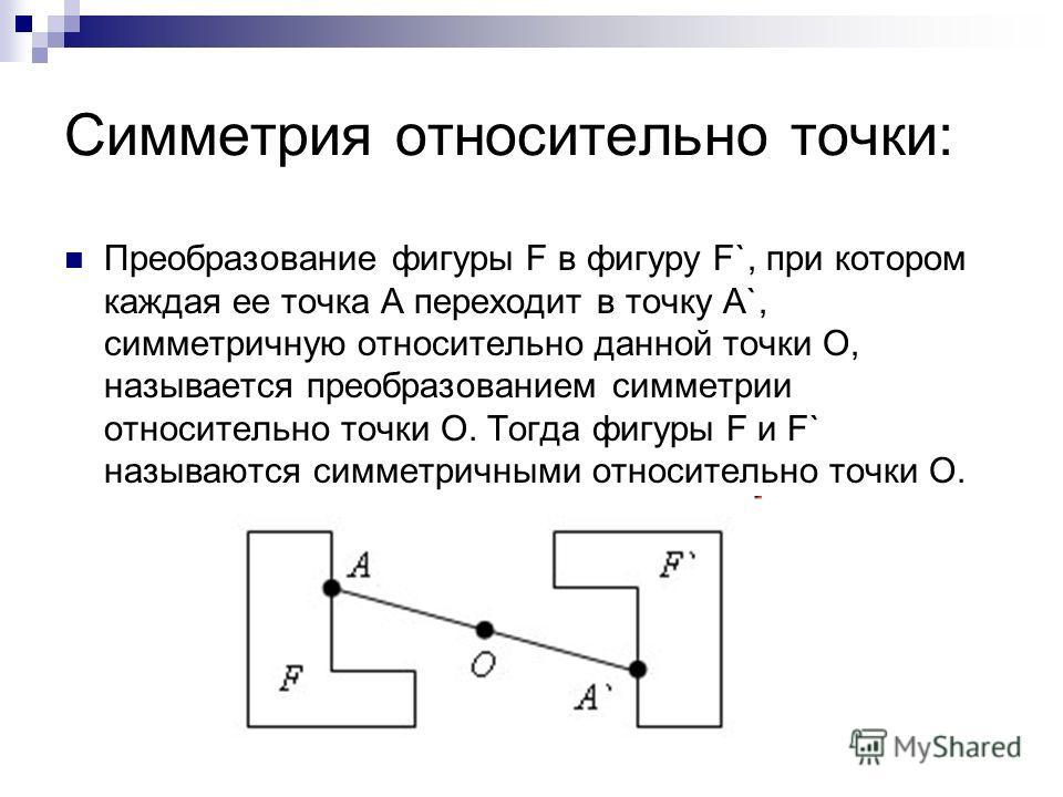 Доклад на тему преобразование симметрии в пространстве 7107