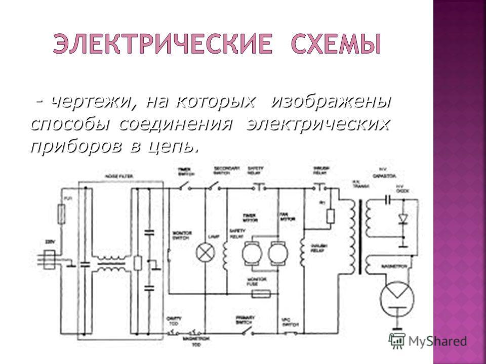- чертежи, на которых изображены способы соединения электрических приборов в цепь. - чертежи, на которых изображены способы соединения электрических приборов в цепь.