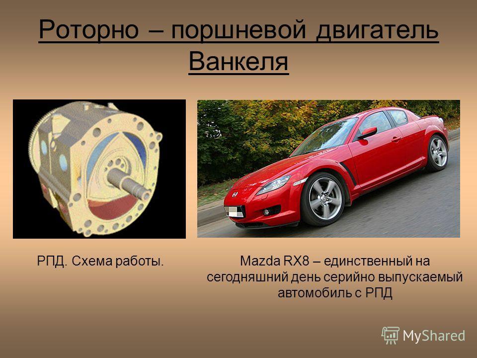 Роторно – поршневой двигатель Ванкеля Mazda RX8 – единственный на сегодняшний день серийно выпускаемый автомобиль с РПД РПД. Схема работы.
