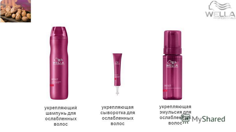 укрепляющий шампунь для ослабленных волос укрепляющая эмульсия для ослабленных волос укрепляющая сыворотка для ослабленных волос