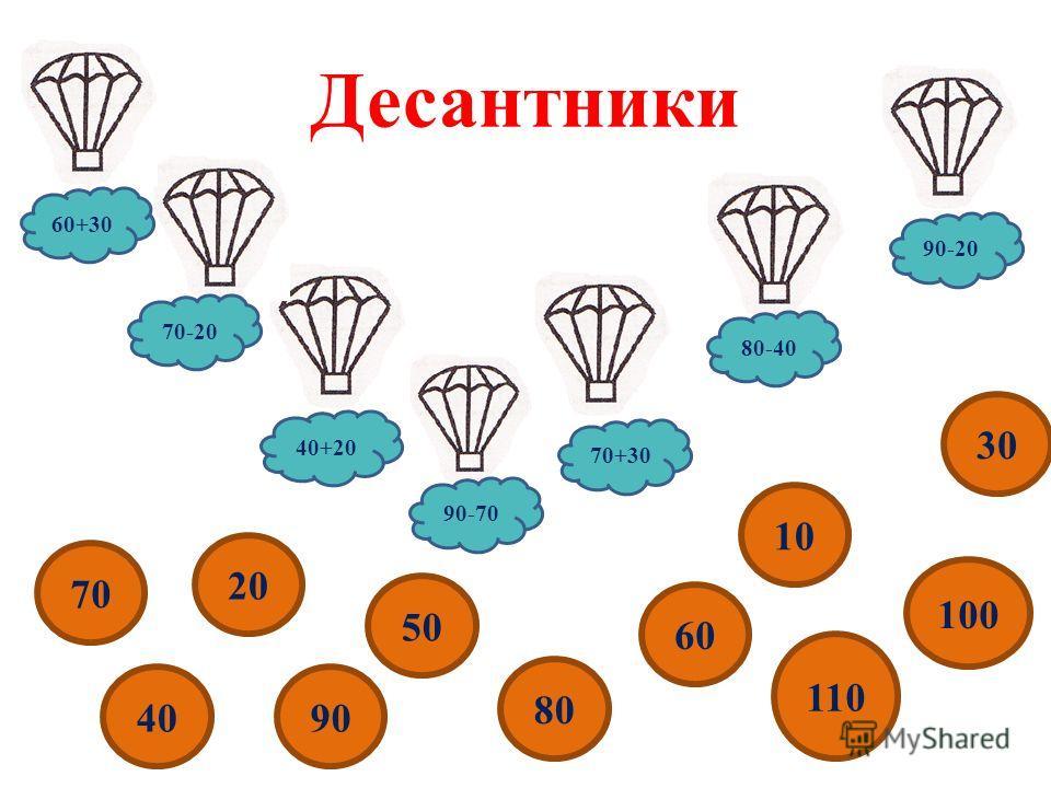 Десантники 70-20 90-20 80-40 70+30 40+20 60+30 90-70 40 50 80 60 10 110 100 70 20 30 90