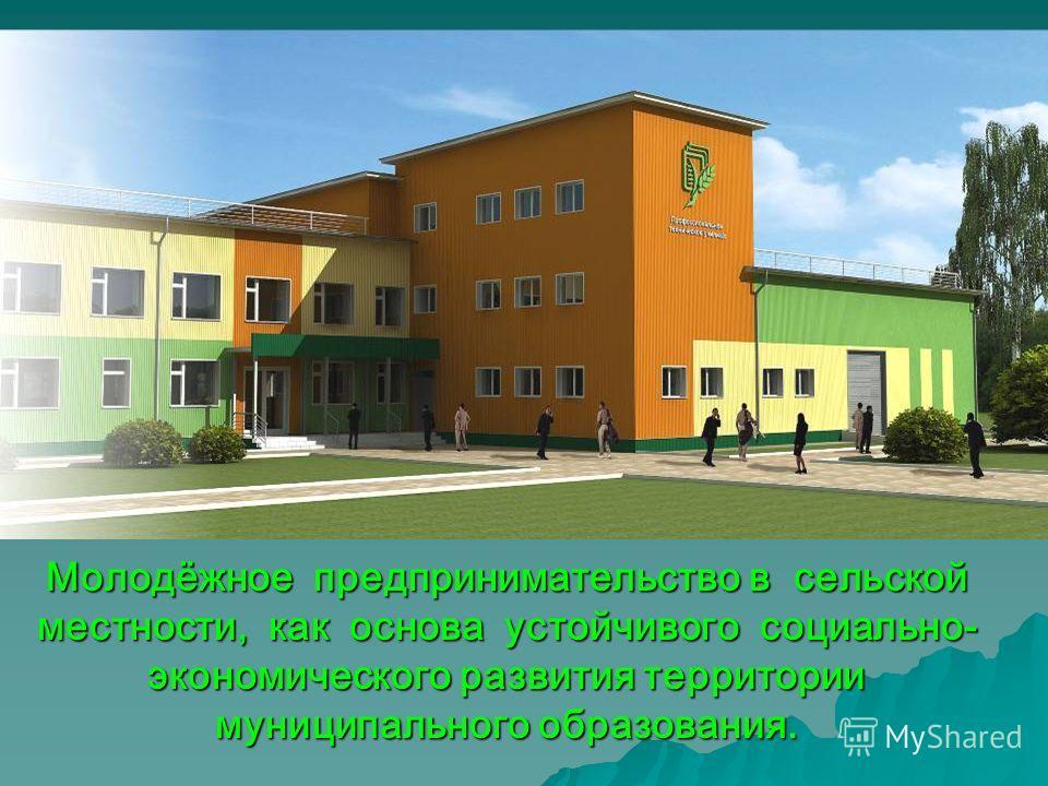 Молодёжное предпринимательство в сельской местности, как основа устойчивого социально- экономического развития территории муниципального образования.