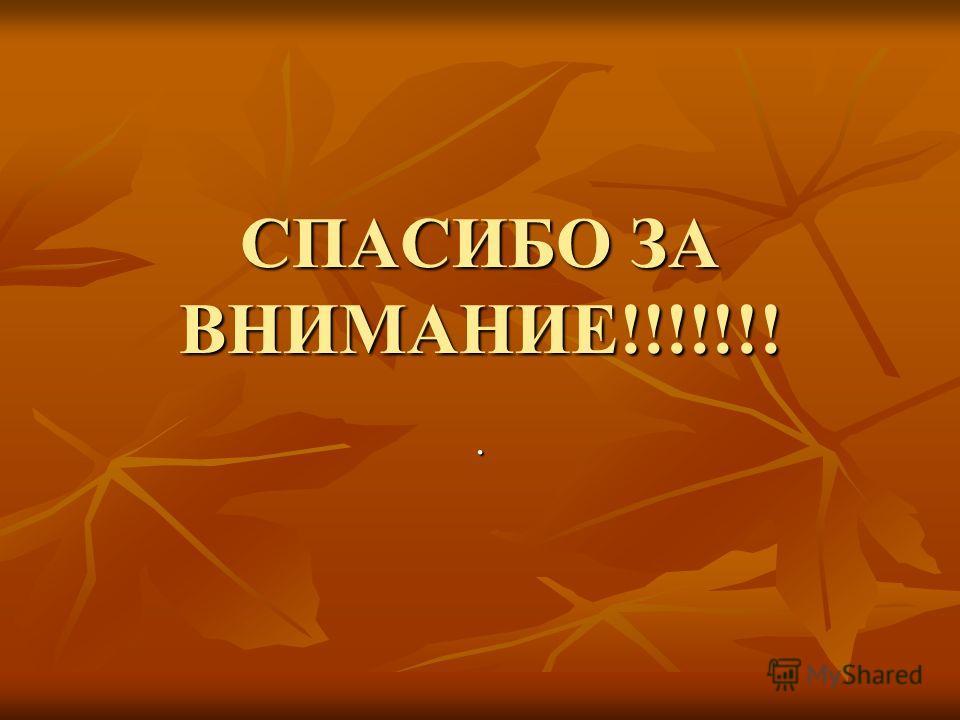 СПАСИБО ЗА ВНИМАНИЕ!!!!!!!.