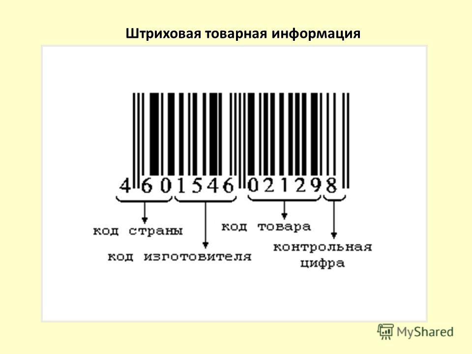 Штриховая товарная информация