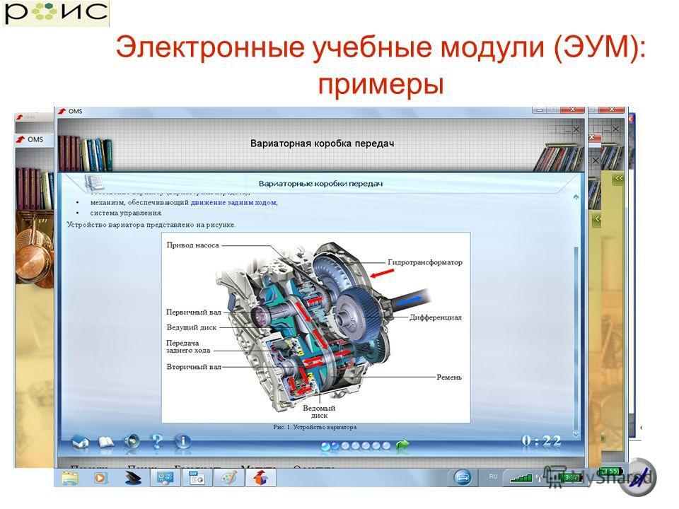 Электронные учебные модули (ЭУМ): примеры
