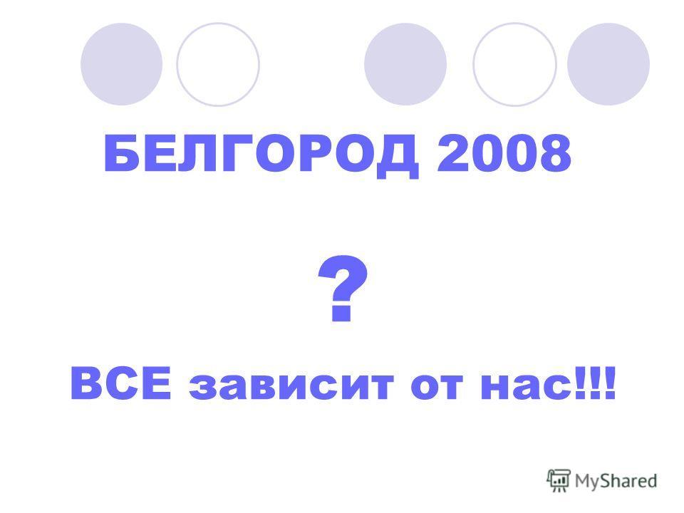БЕЛГОРОД 2008 ? ВСЕ зависит от нас!!!