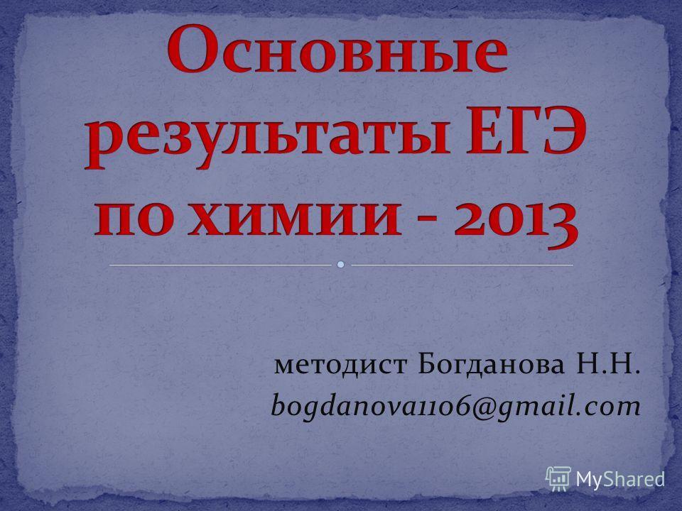 методист Богданова Н.Н. bogdanova1106@gmail.com
