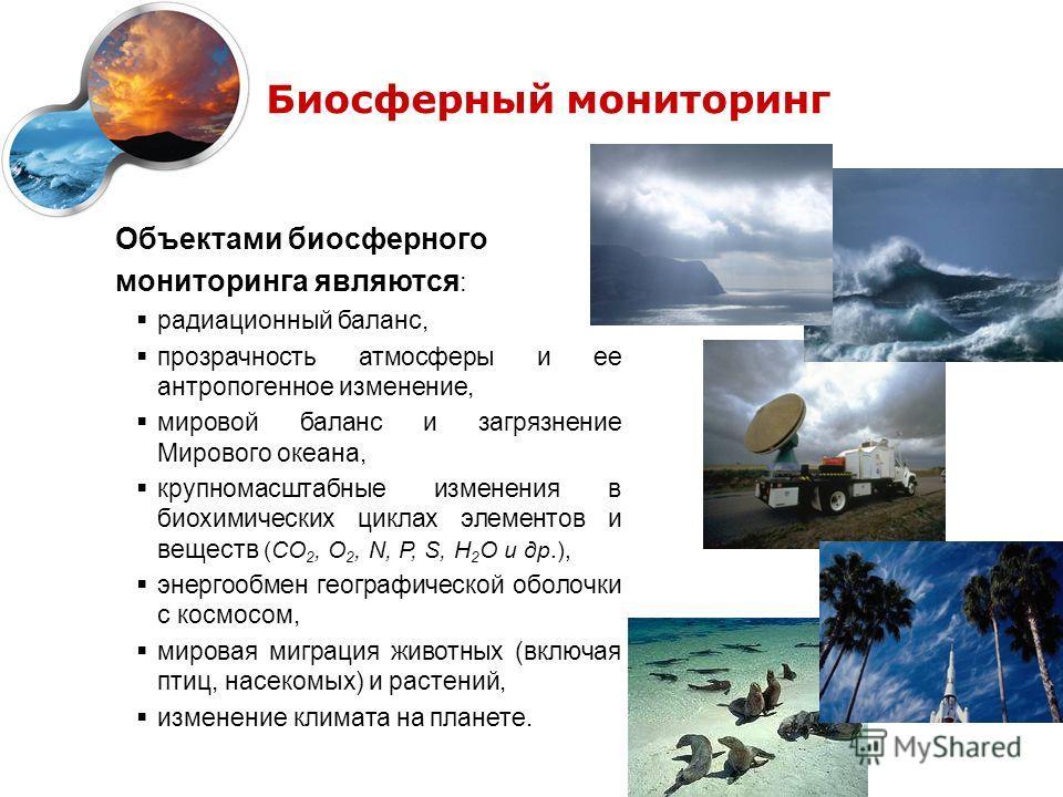 геоэкологический мониторинг атмосферы: