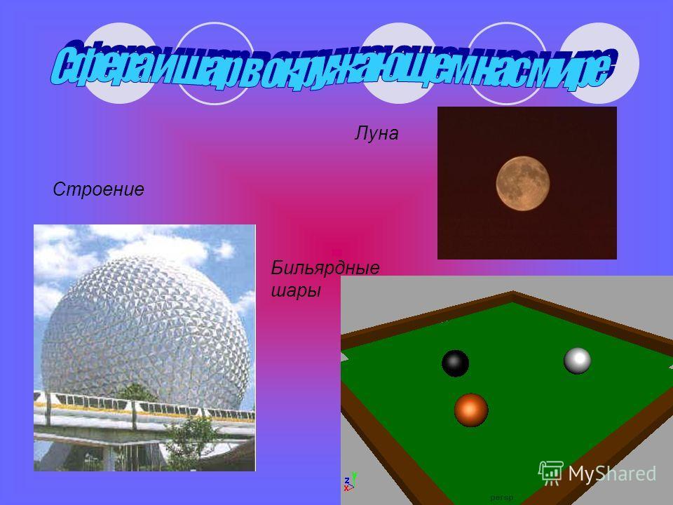 Строение Бильярдные шары Луна