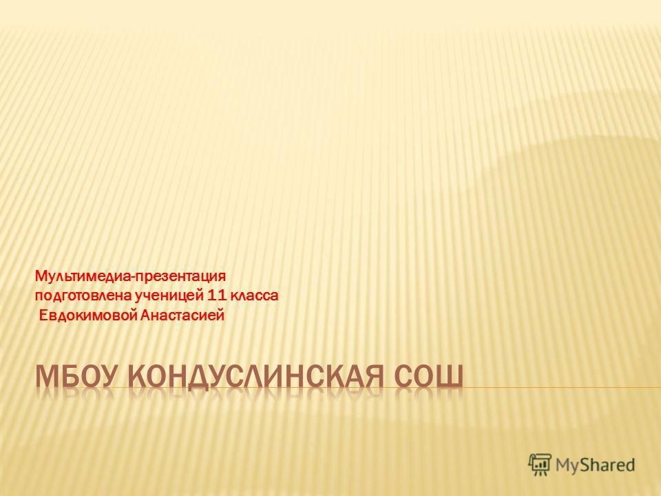Мультимедиа-презентация подготовлена ученицей 11 класса Евдокимовой Анастасией
