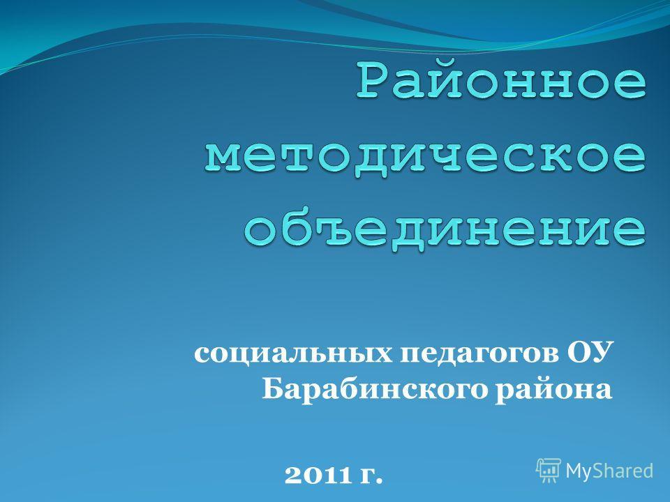 социальных педагогов ОУ Барабинского района 2011 г.