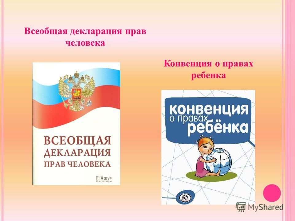 Всеобщая декларация прав человека Конвенция о правах ребенка