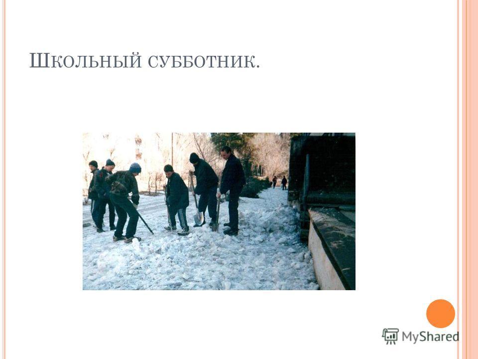Ш КОЛЬНЫЙ СУББОТНИК.