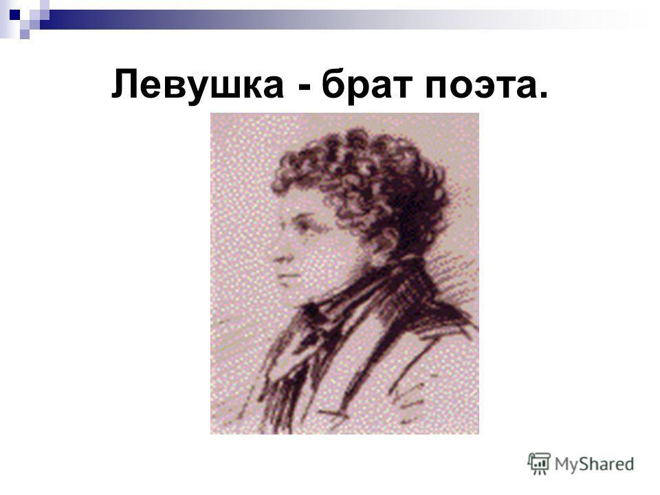 Левушка - брат поэта.